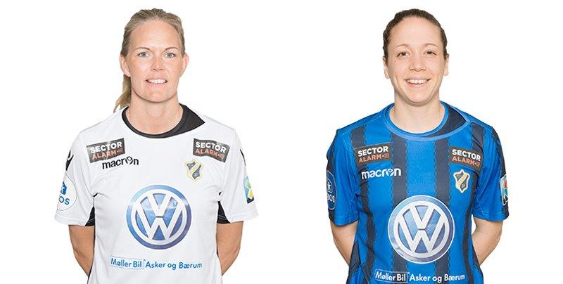 A-landslaget: Ingrid og Melissa