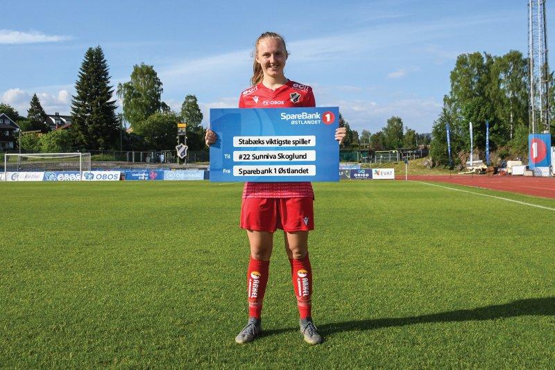 """""""Stabæks Viktigste Spiller"""" Sunniva Skoglund"""