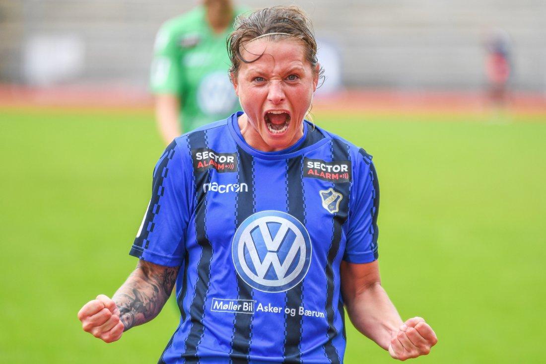 Trine Rønning fra seier over Røa i 2017