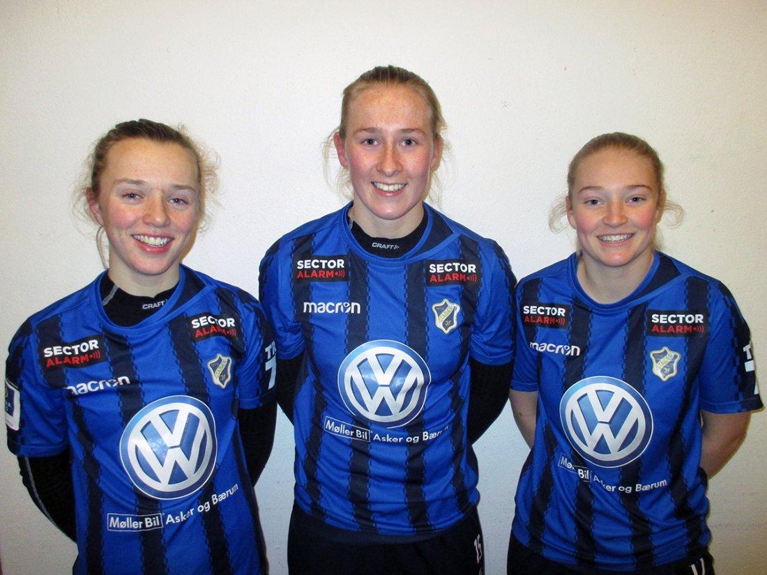 f.v: Cornelia, Kamilla og Melenie