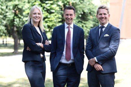 Teamet som passer på at alt går bra med Odin-Sverige. Foto. Odin Forvaltning AS