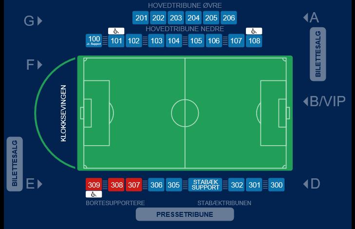 Stadionkart Nadderud 2021
