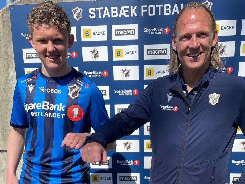 Olav Veum og sportssjef Torgeir Bjarmann