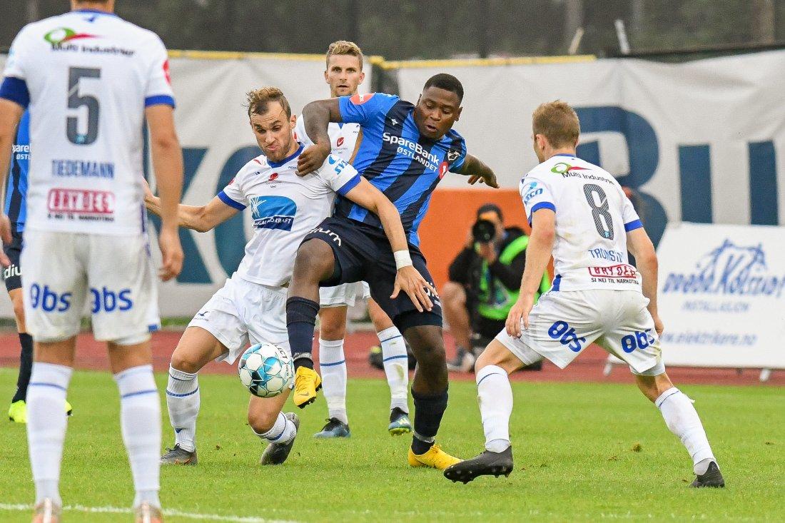 REDEBUTERTE: Lumanza spilte for Stabæk for første gang i sin andre periode i klubben. Lumanza forlot Stabæk i 2017 og vendte tilbake i 2019.